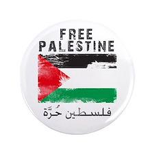 "Free Palestine ( filistin hur 3.5"" Button"