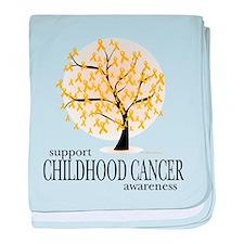 Childhood Cancer Tree baby blanket