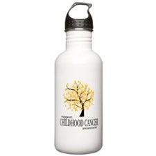Childhood Cancer Tree Water Bottle