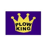 Plow King Rectangle Magnet