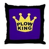 Plow King Throw Pillow