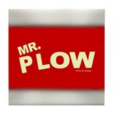 Mr Plow Tile Coaster
