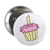 "First Birthday Cupcake 2.25"" Button (100 pack)"