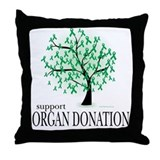 Organ Donation Tree Throw Pillow
