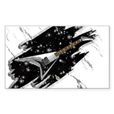 Flying V Guitar Rectangle Decal