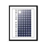 Solar Panel Framed Panel Print