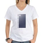 Solar Panel Women's V-Neck T-Shirt