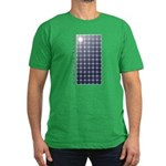 Solar Panel Men's Fitted T-Shirt (dark)