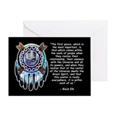 Black Elk Quote Greeting Card