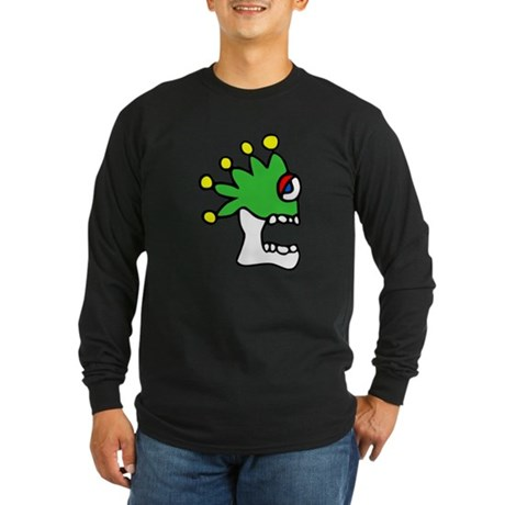 Malinalco - Jester Skull Long Sleeve Dark T-Shirt