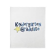 Boy Kindergarten Graduate Throw Blanket
