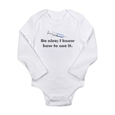 Nurse Medical Graduation Long Sleeve Infant Bodysu