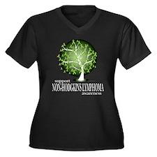 Non-Hodgkins Lymphoma Tree Women's Plus Size V-Nec