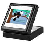 Panda Loves Libraries Keepsake Box