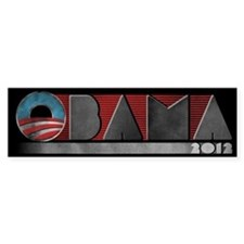 Retro Obama 2012 Bumper Sticker