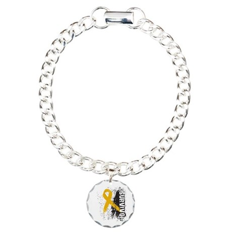Survivor Appendix Cancer Charm Bracelet, One Charm