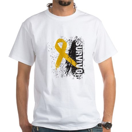 Survivor Appendix Cancer White T-Shirt
