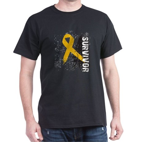 Survivor Appendix Cancer Dark T-Shirt