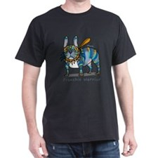 frenchie Warrior (dark) T-Shirt