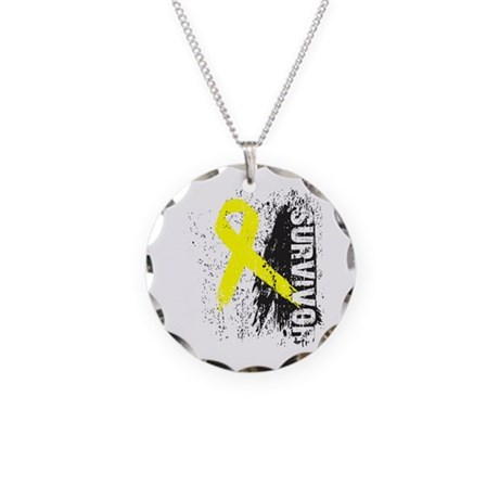 Survivor Bladder Cancer Necklace Circle Charm