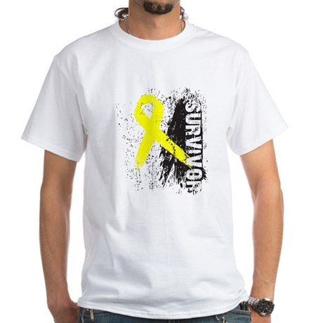 Survivor Bladder Cancer White T-Shirt