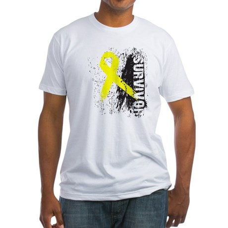 Survivor Bladder Cancer Fitted T-Shirt