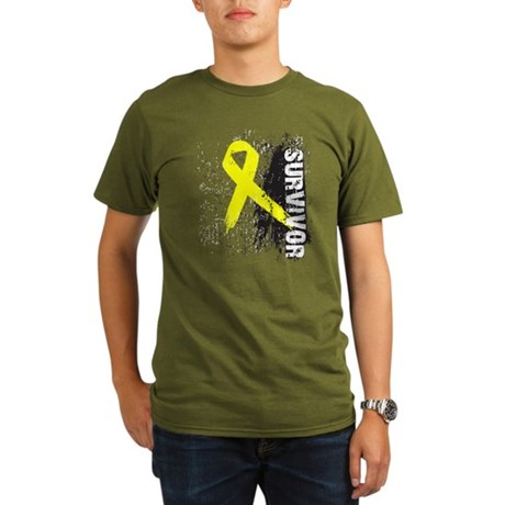 Survivor Bladder Cancer Organic Men's T-Shirt (dar