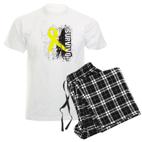 Survivor Bladder Cancer Men's Light Pajamas