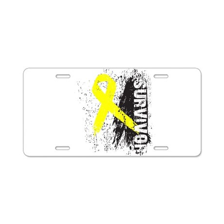 Survivor Bladder Cancer Aluminum License Plate