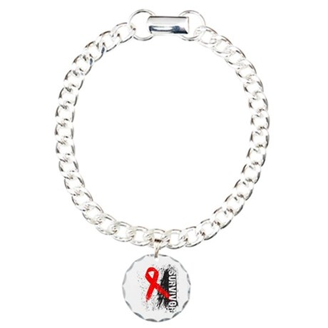 Survivor Blood Cancer Charm Bracelet, One Charm