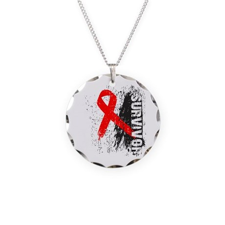 Survivor Blood Cancer Necklace Circle Charm