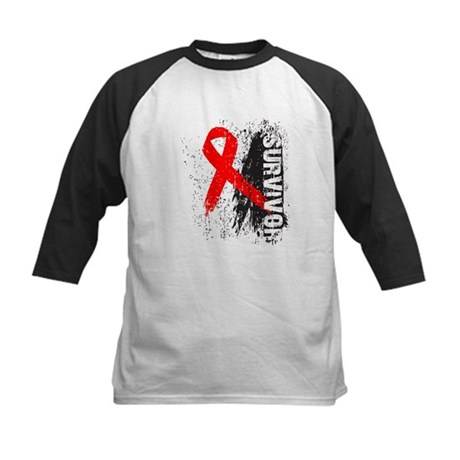 Survivor Blood Cancer Kids Baseball Jersey