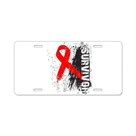Survivor Blood Cancer Aluminum License Plate