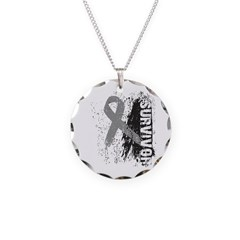 Survivor Brain Cancer Necklace Circle Charm