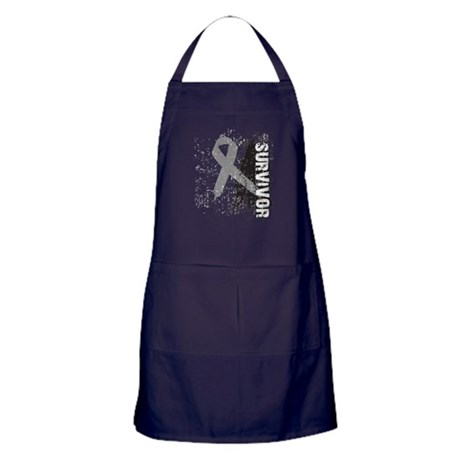 Survivor Brain Cancer Apron (dark)