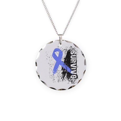 Survivor Esophageal Cancer Necklace Circle Charm