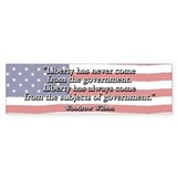 Woodrow Wilson Liberty and Govt Bumper Bumper Sticker