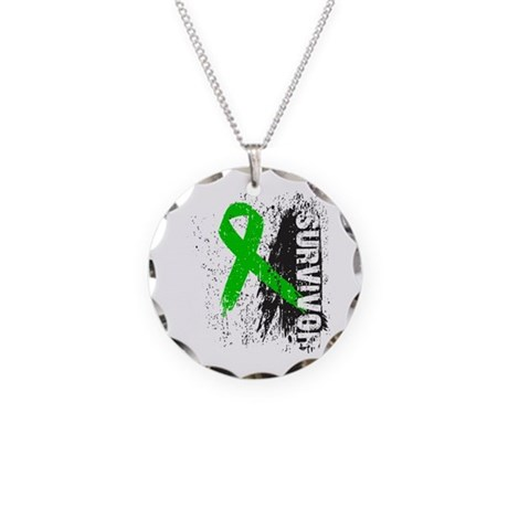 Survivor Bile Duct Cancer Necklace Circle Charm