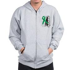 Survivor Liver Cancer Zip Hoodie