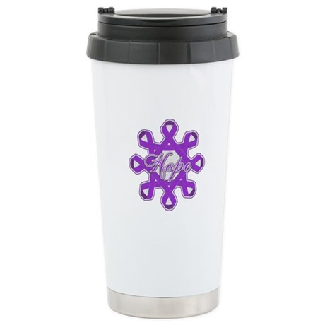 Pancreatic Cancer Ribbons Ceramic Travel Mug
