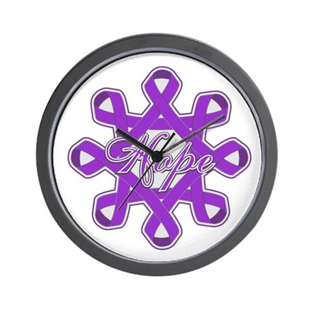 Pancreatic Cancer Ribbons Wall Clock