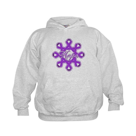 Pancreatic Cancer Ribbons Kids Hoodie