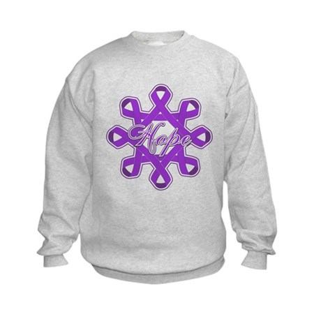 Pancreatic Cancer Ribbons Kids Sweatshirt