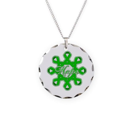 Kidney Cancer Ribbons Necklace Circle Charm