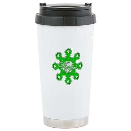 Kidney Cancer Ribbons Ceramic Travel Mug
