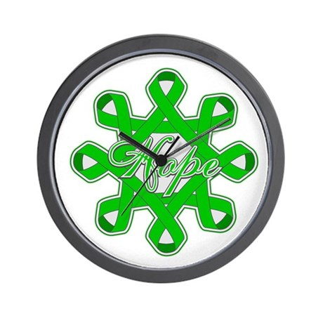 Kidney Cancer Ribbons Wall Clock