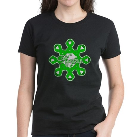 Kidney Cancer Ribbons Women's Dark T-Shirt