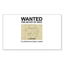 The Original Wanted Leprechaun Decal
