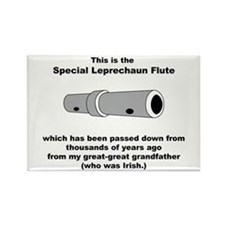 The Special Leprechaun Flute Rectangle Magnet