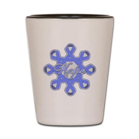 Esophageal Cancer Ribbons Shot Glass